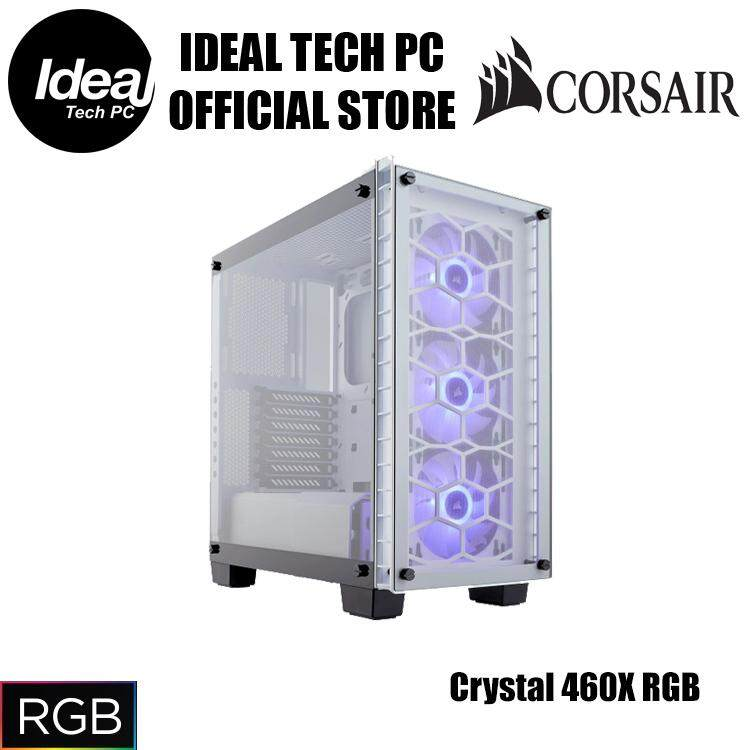Corsair Crystal Series 460X RGB (White/Black) Malaysia