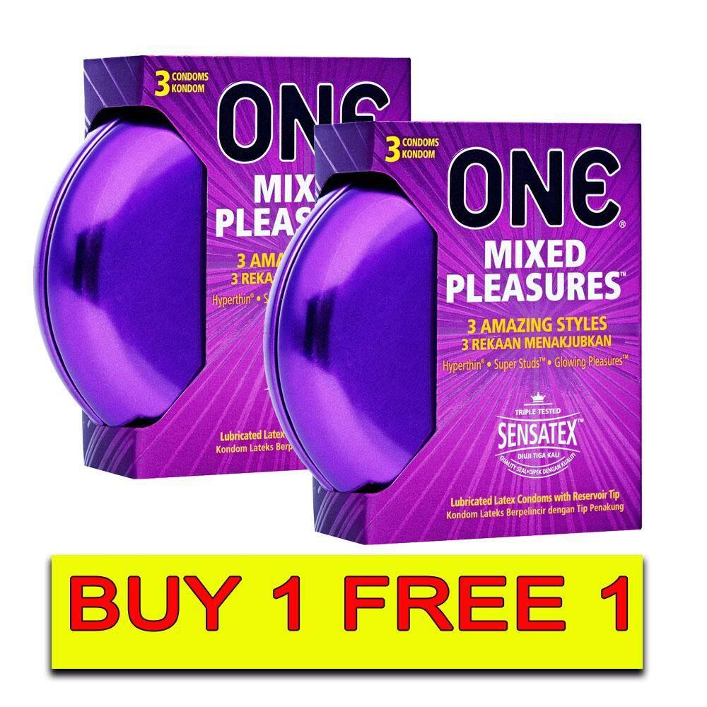One Mixed Pleasures Condoms 3s [Buy 1 Free 1]