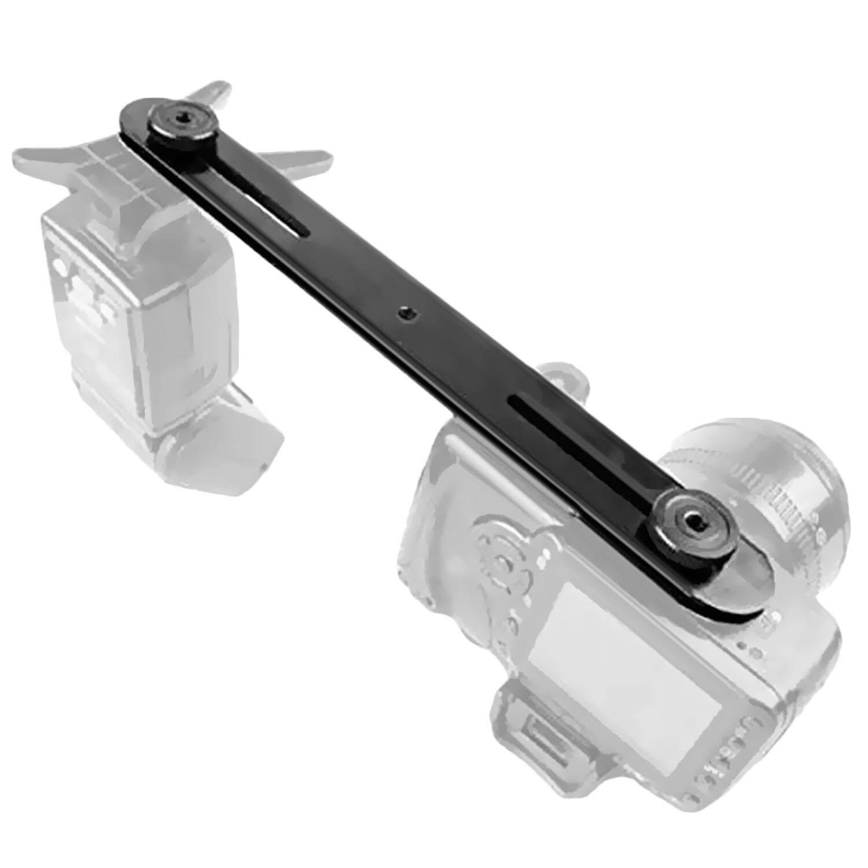 Dual Flash Panas Braket Sepatu Satu atau Dua Switcher Dudukan Bar dengan 1/4 Inci Sekrup untuk Perkakas Bertualang Pentax Olympus kamera DSLR