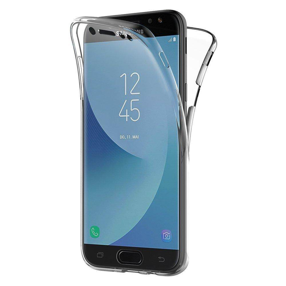 For Samsung Galaxy J7 2017 J720 Case, 360 Degree Full Cover Soft Clear Case Shockproof