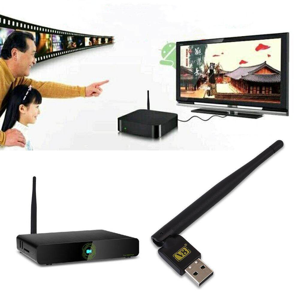 Kurry store free shipping Mini Portable USB 2.0 WiFi Antenna Dongle for Satellite TV Receivers V8 - intl