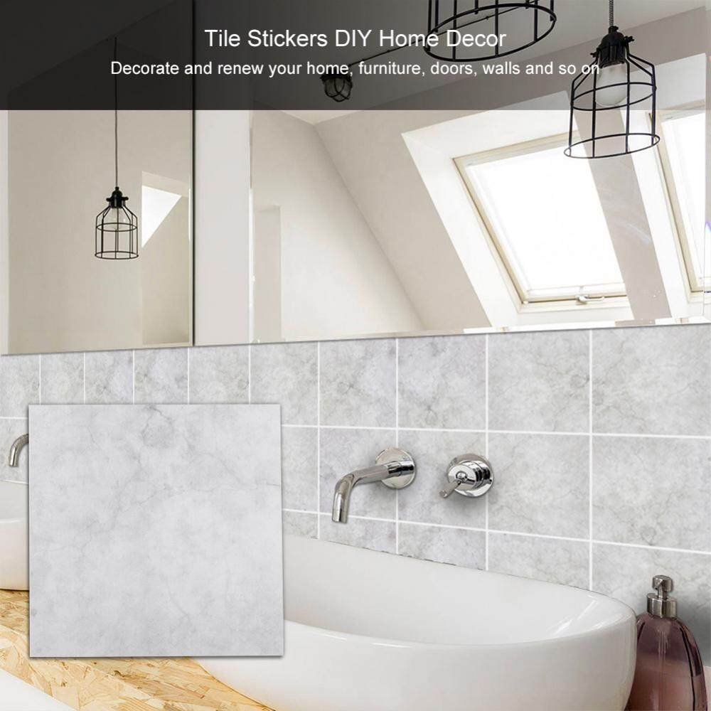 10pcs Self-Adhensive PVC Waterproof Wall Tile Sticker DIY Home Bathroom Decor Art (15*15cm) - intl