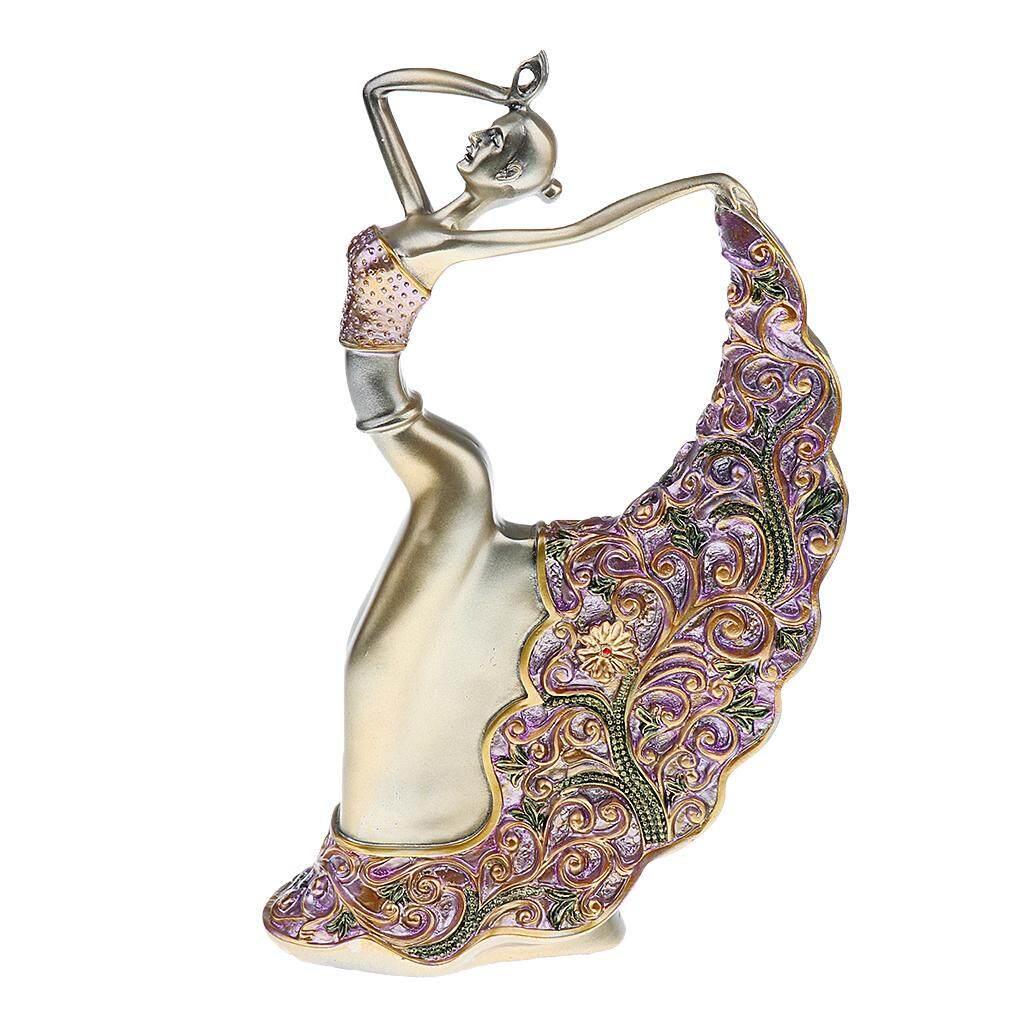 BolehDeals Vintage Resin Dancing Lady Figurine Ornament Gift Home Decorative Sculpture