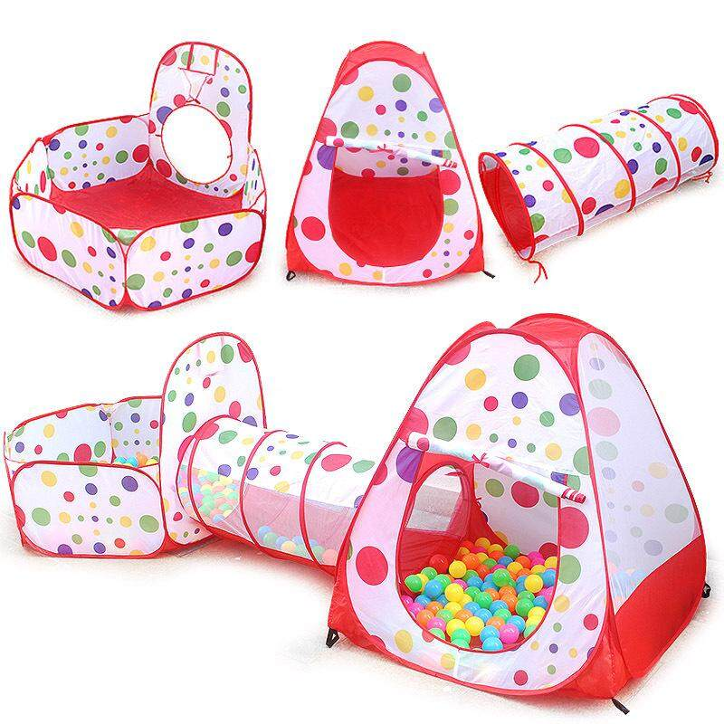 [hot Deal] Free Gifts + 3pcs Kids Play Tent Tunnel Set Pop-Up Playhouse Tent By Dreamsbrand.