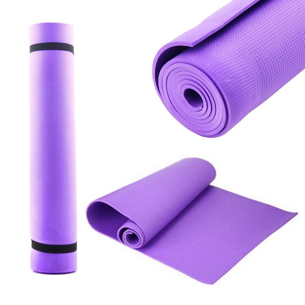 ... Kerui 173 Cm 10 Mm Tebal Matras Yoga Melebar Multifungsi Olahraga dan Kebugaran Bantalan Pelindung Tikar