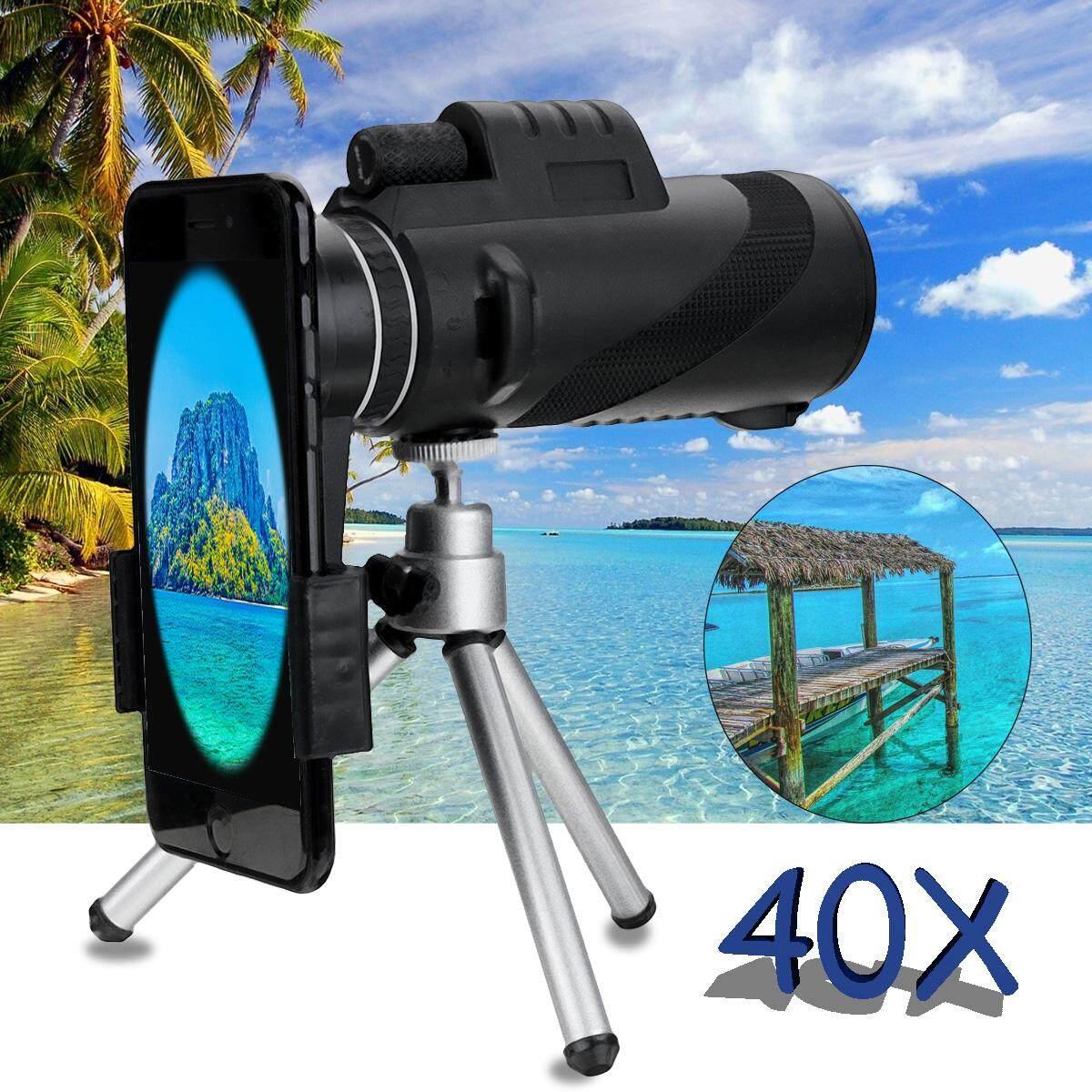 40X Zoom Lensa HD Teleskop Outdoor BAK4 Prism Kamera Ponsel Bermata dengan Tripod-Intl