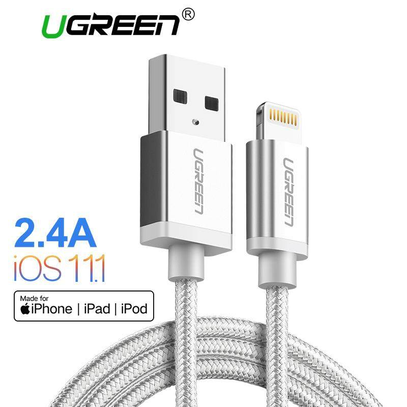 Buy Ugreen 25Meter Metal Alloy Usb Lightning Cable Usb Charger Cable Nylon Bradied Design For Iphone 5 6 7 8 X Ipad Intl Ugreen