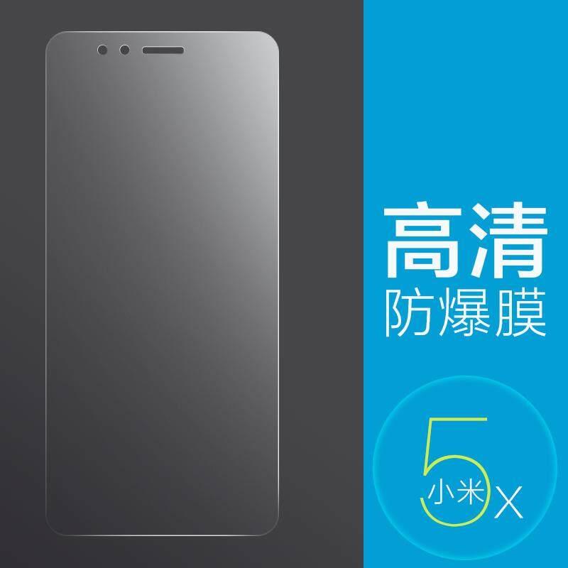 Xiaomi 5x Kaca pelindung layar HP 5S layar penuh cakupan plus blu-ray 5 ke sisi hitam tidak ada Sisi Putih 5c stiker layar HP x5 lima