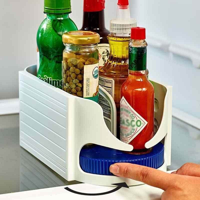 ailsen Laser Cupboard Organiser Small Roto-Caddy Swivel Sauce Jars/Cans/Cups Storage