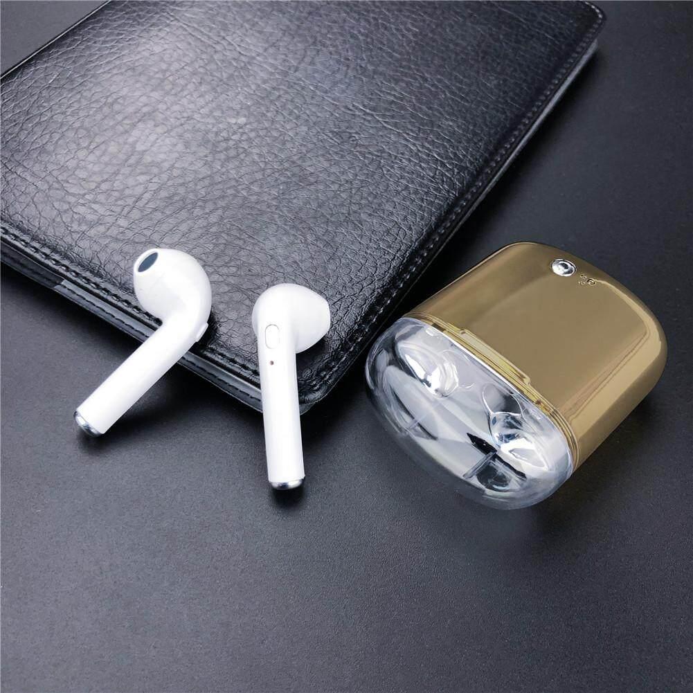 Ryt Binaural WIRE-Kurang Bluetooth V4.2 Headset TWS Earphone Berwarna dengan Pengisian Bin
