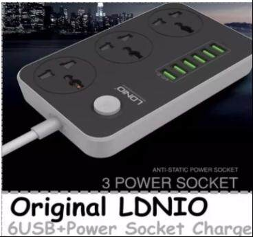 Original LDNIO 6USB & 3 Universal Power Socket Phone Charger SC3604