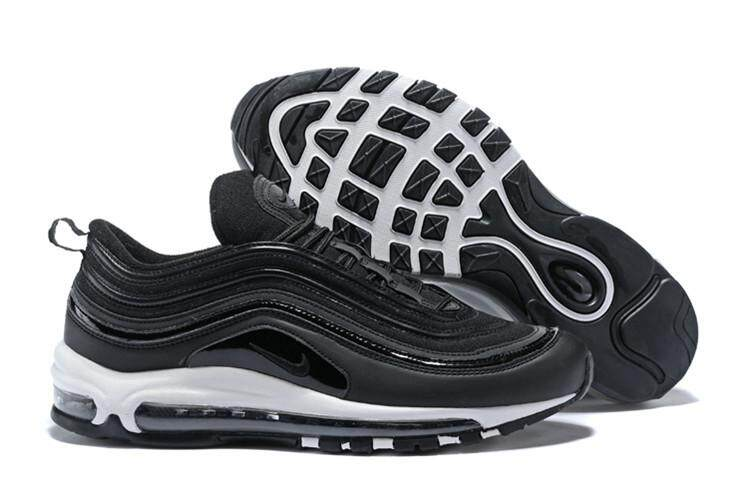 0b43c2a36aba Nike Official Air Max 97 Low Top High Quality Running Shoe WOMEN ( Black  White )