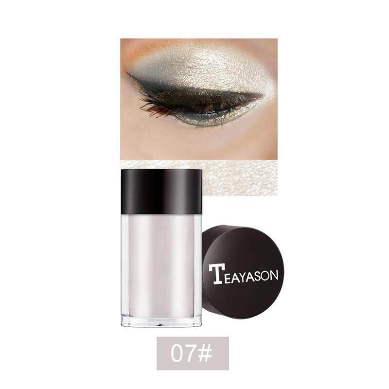 8 Warna Glitter Mata Bedak Bayangan Maquiagem Longgar Mengkilap Riasan Mata Serbuk Metalik Kosmetik Tahan Air