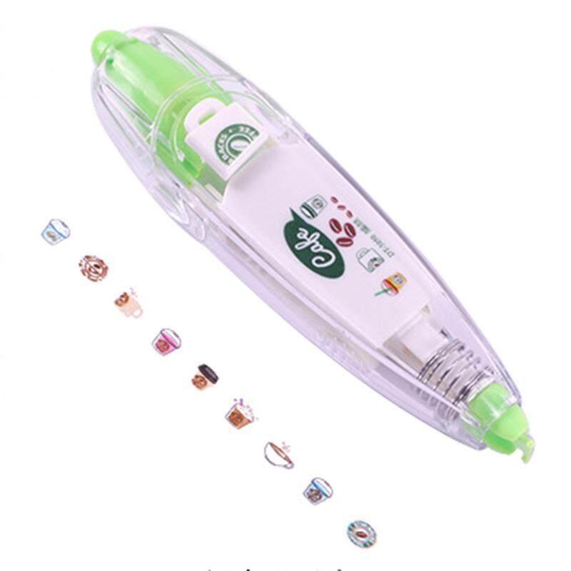 Cute Novelty Decorative Correction Tape Correction Fluid School & Office Supply(Green coffee ...
