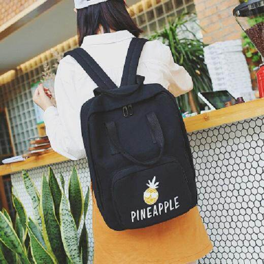 [PRE-ORDER] Women Fruits Canvas Printing Student Backpack