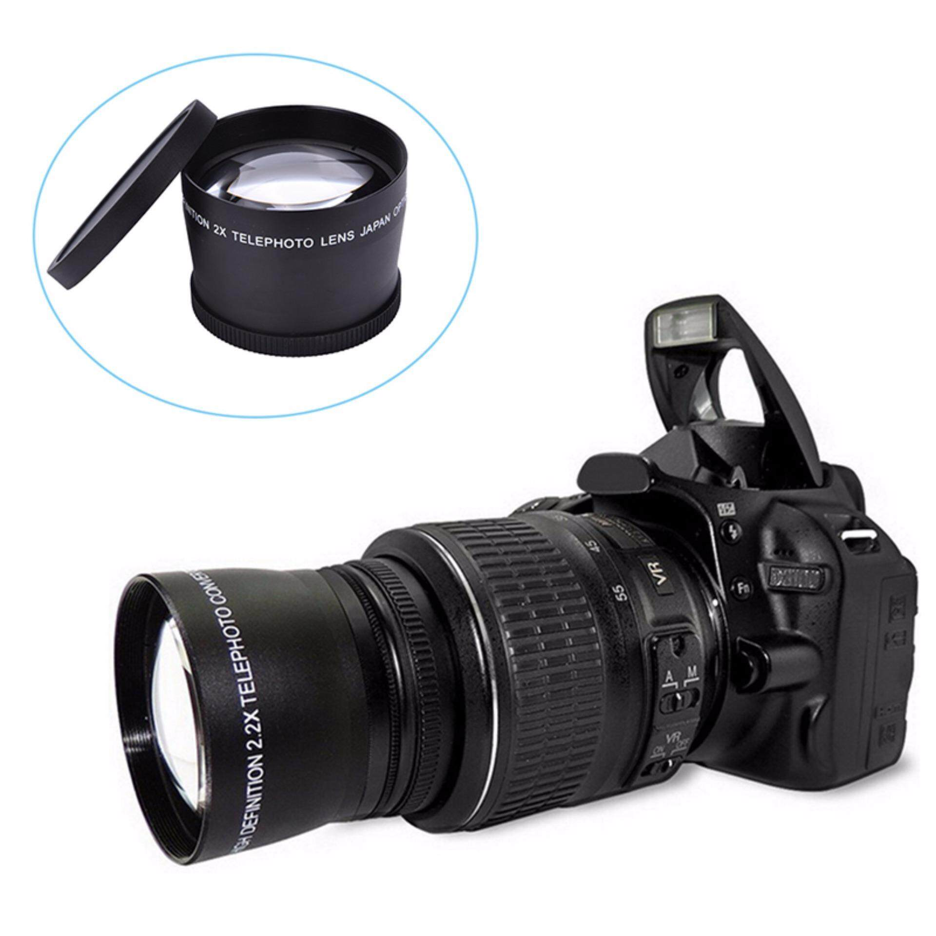 58mm 2.0x 2x Tele Lens Converter for DSLR Camera DV Camcorder Canon Sony Nikon