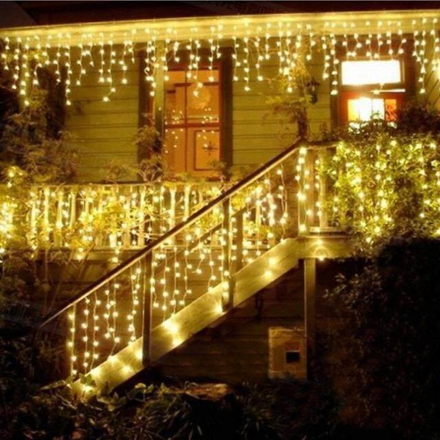 GOODPLANET 4M 120 LED Icicle Lights Curtain Window Fairy String Lights Decorative