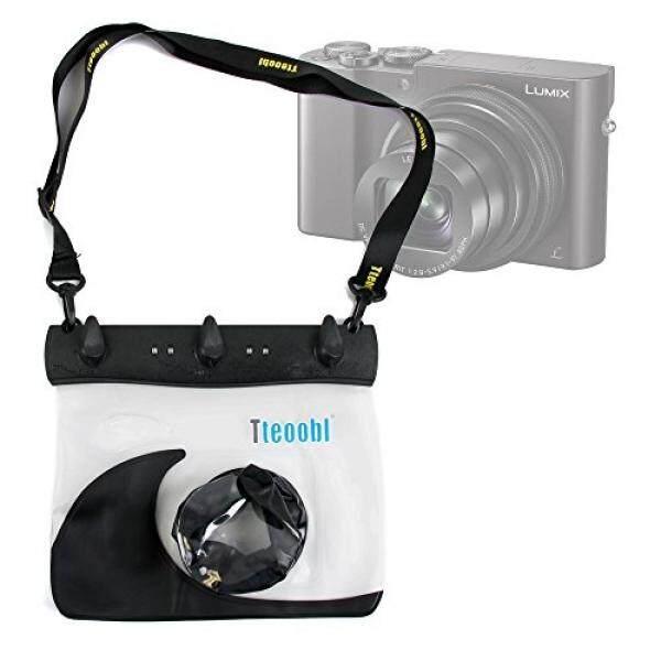 Duragadget Hitam Tahan Air Kamera Case For New Panasonic Lumix TZ80, Lumix TZ100/SZ100, lumix DMC-ZS60/TZ60, Lumix DMC-ZS100-dengan Lensa Variabel Kompartemen-Intl