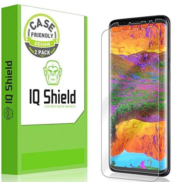 Galaxy S9 Plus Screen Protector [2-Pack], IQ Shield LiQuidSkin Bubble-Free [Case-Friendly] Screen Protector for Galaxy S9 Plus HD Clear Film - intl