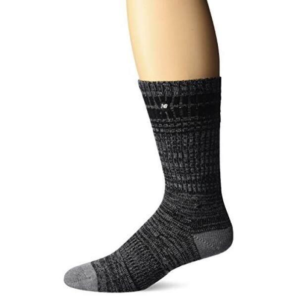 New Balance Mens Hall Stroller Lifestyle Crew Socks, Blue/Grey, 9-12.5 - intl