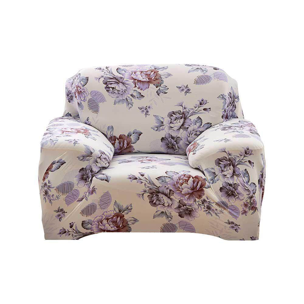 1/2/3/4 Seater Sofa Covers, 2018 New Stretch Sofa Slipcovers Super Fit Living Room Furniture Protector with Printed Pattern, Snag Resistant & Soil Resistant