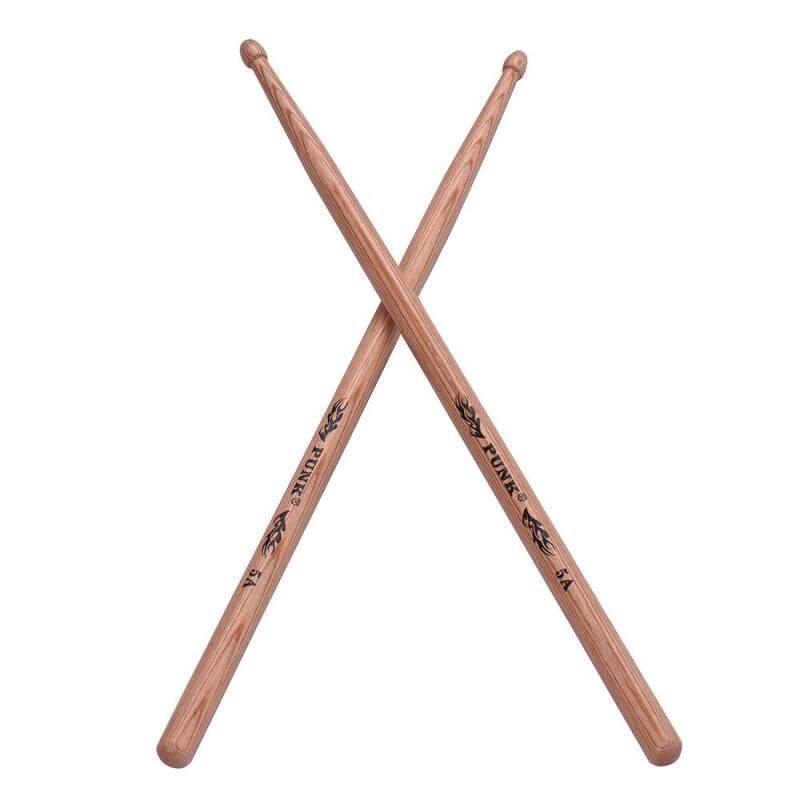 One Pair of 5A Wooden Drumsticks Drum Sticks Hickory Wood Drum Set Accessories
