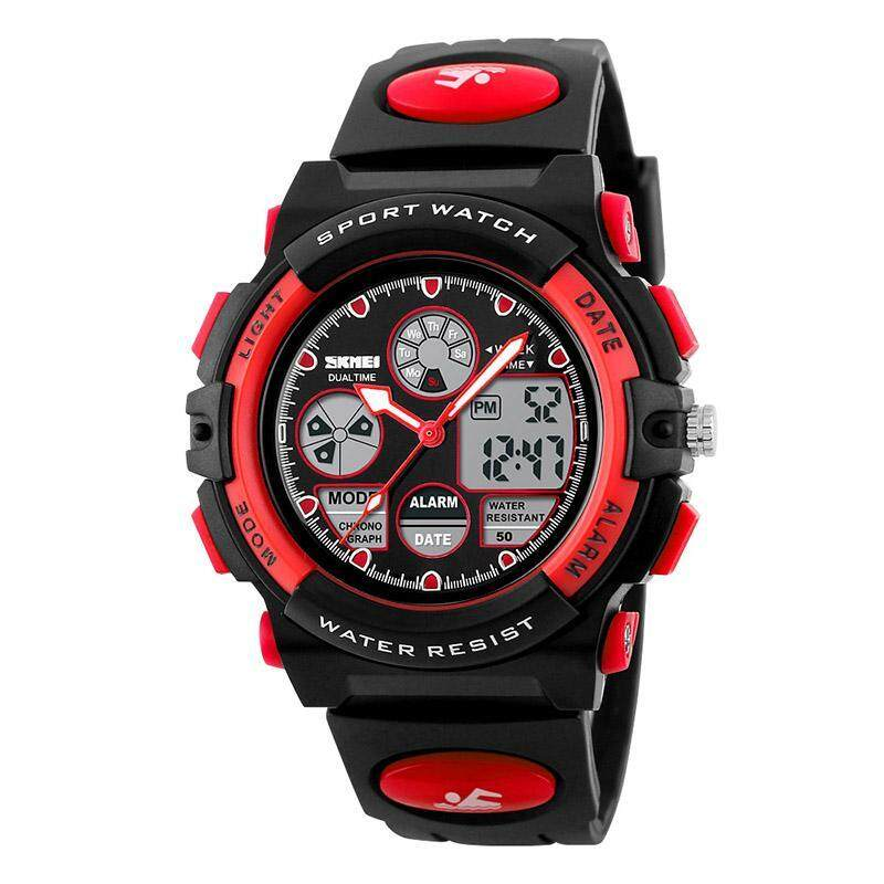 SKMEI Childrens Watches Fashion Sport Waterproof Wristwatches Dual Time LED Analog Digital Quartz Watch For Boys Kids Original 1163 bán chạy