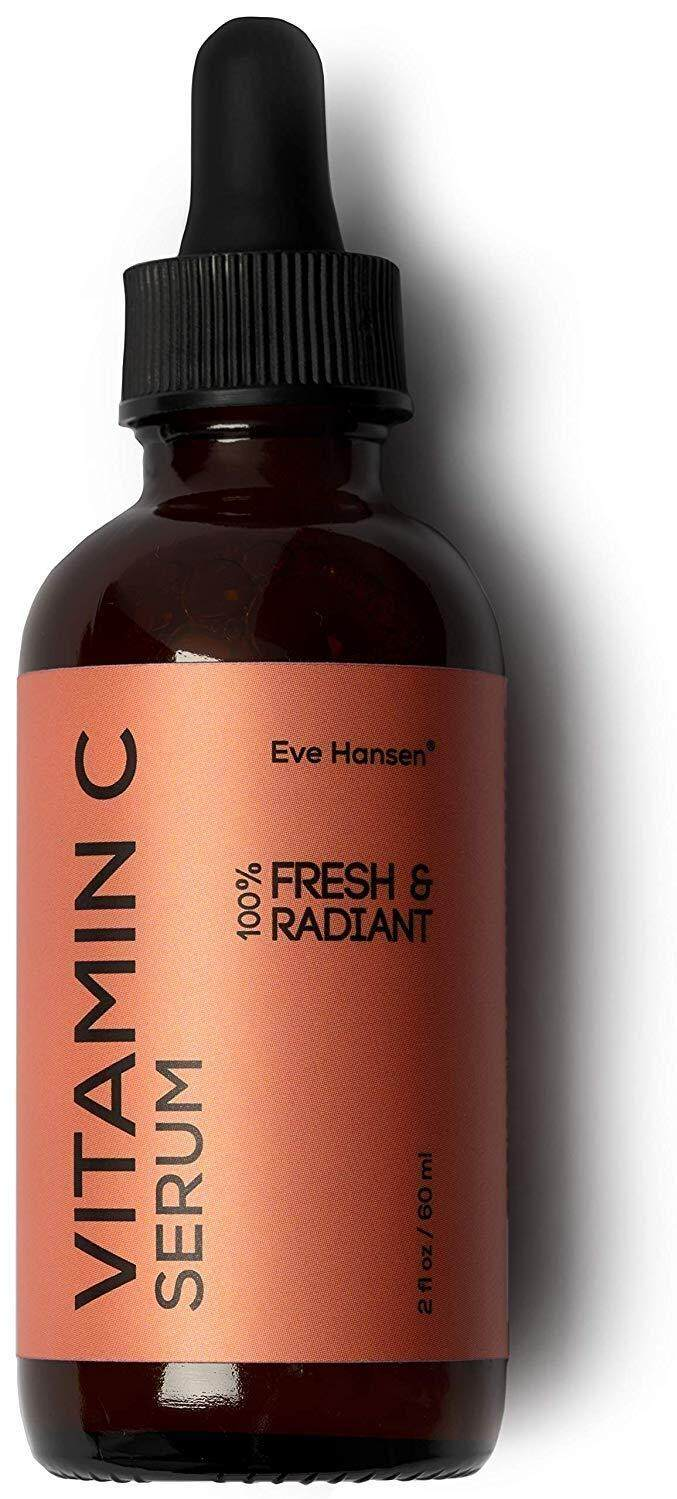 Natural Vitamin C Serum For Face - 2 oz - Hyaluronic Acid Vitamin E Dark Spot Corrector Face Serum To Brighten Skin and Reduce Wrinkles. Collagen Serum, Hydrating Acne Scar Treatment - Eve Hansen