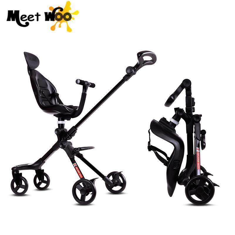 MEET WOO Children Walk Baby Artifact With Brakes Baby Stroller High Landscape Portable Portable Folding - intl Singapore
