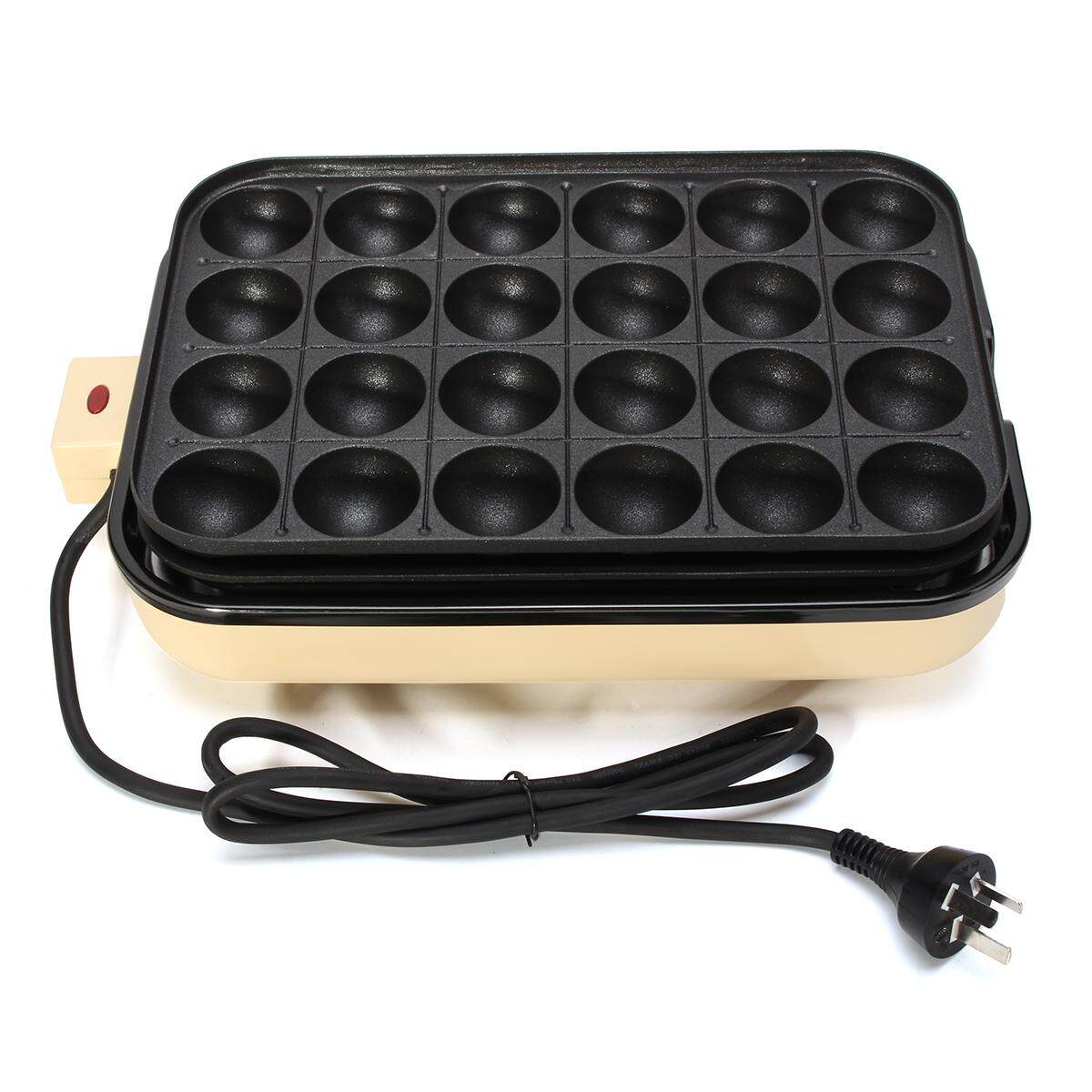24 Holes Takoyaki Grill Pan Plate Cooking Baking Mold Octopus Ball Maker Kitchen By Glimmer.