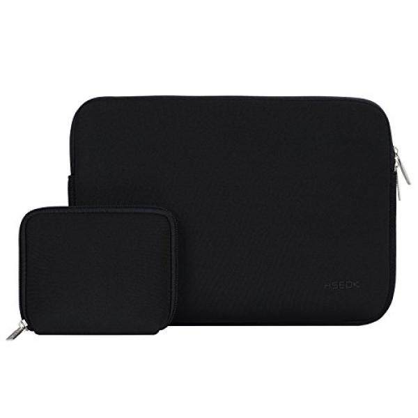 HSEOK 13-13.3 Inch Laptop Sleeve Case, Water-resistant Sleeve with Case for MacBook Air/Pro Retina Late 2012-2016, Black - intl