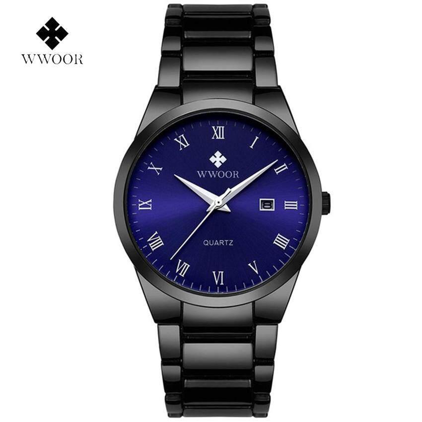 WWOOR Brand Luxury Men Waterproof Business Watch Mens Quartz Date Clock Male Stainless Steel Sports Watches relogio masculino 8830 Malaysia