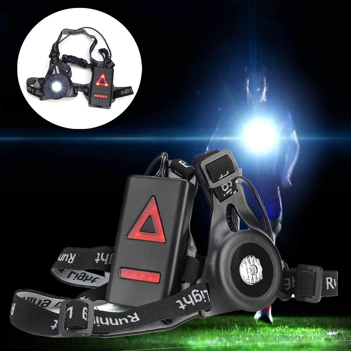 Night Safety Outdoor Running Jogging Light Chest & Back LED Warning Lamp Cycling - intl Philippines