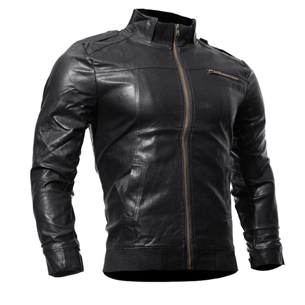 5ec555cca25 Featured Men s Autumn Winter Casual Motorcycle Faux Leather Jacket Outwear  Tops
