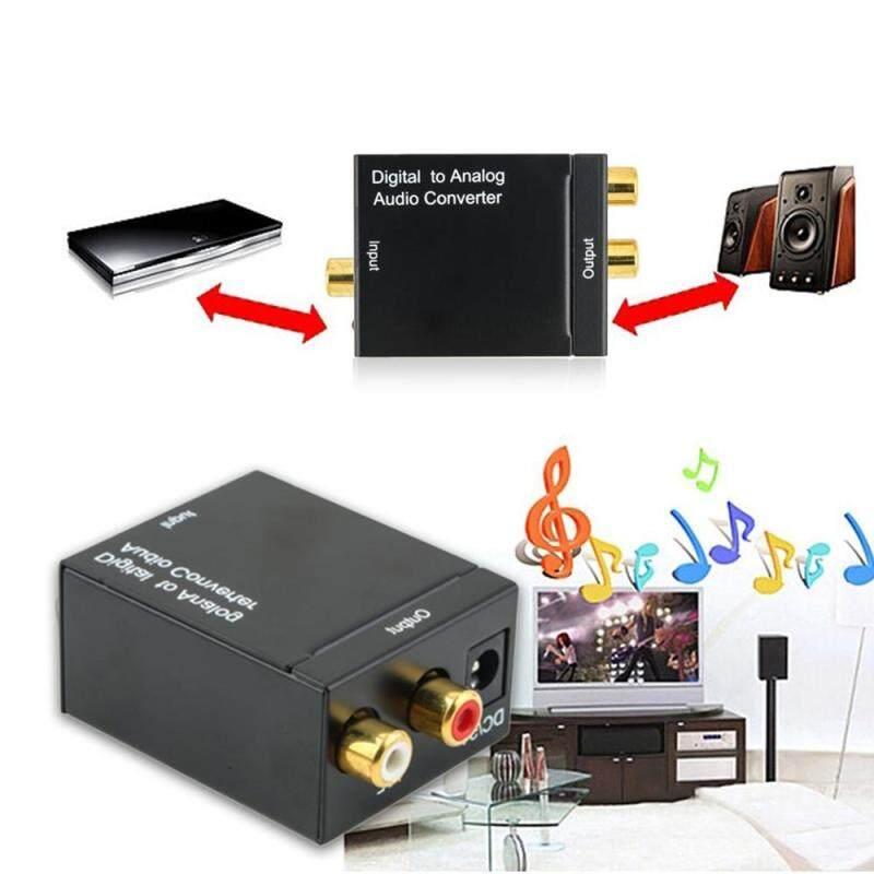 niceEshop Digital Optical Coax To Analog RCA Audio Converter Adapter With Fiber Cable Singapore