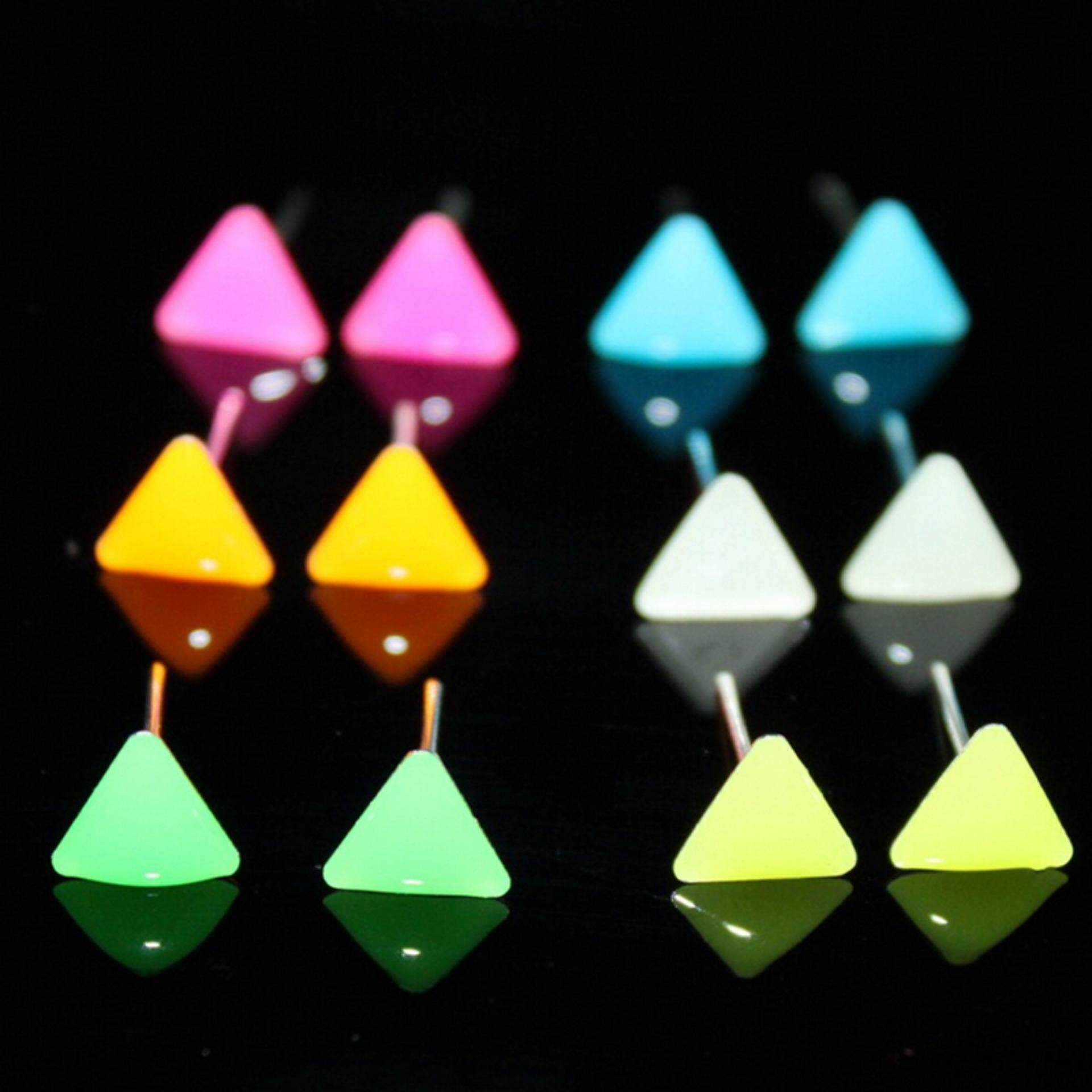 Charming Glow In The Dark (not LED Stud Earrings) for Women Type:Triangle - intl
