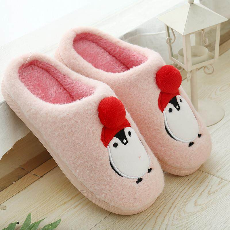 12684bf1067 Winter Home Slippers Cartoon Shoes Non-slip Soft Winter Warm House Slippers