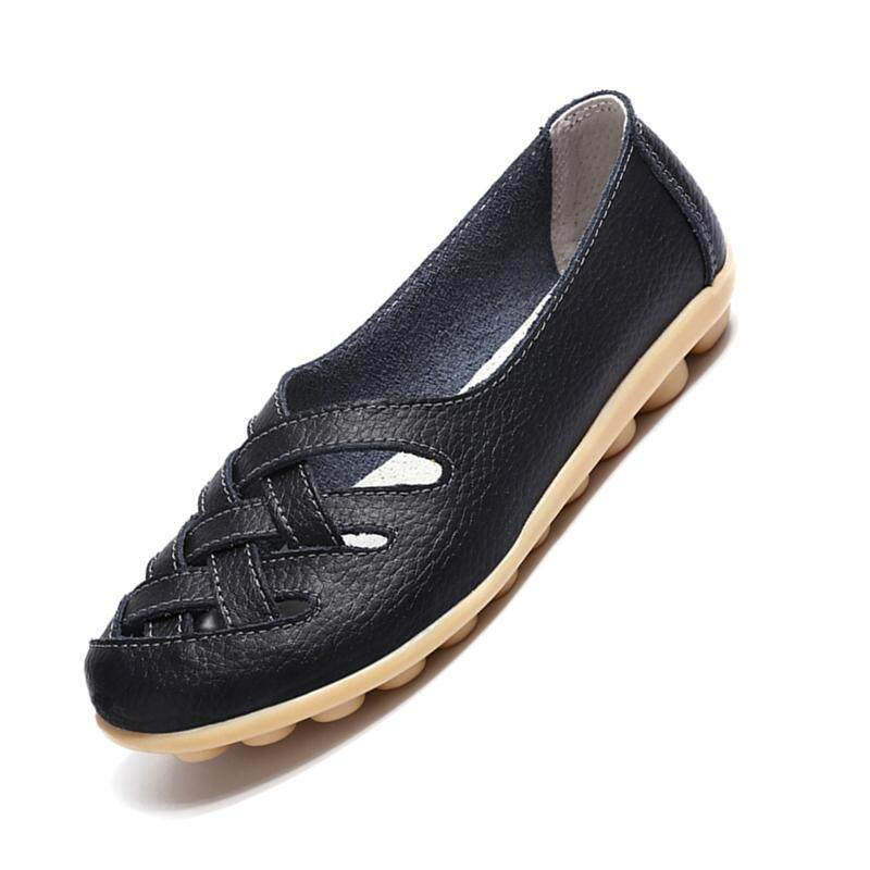 68ab42f96 Women Flats Leather Shoes Moccasins Mother Loafers Soft Leisure Female Flats  Driving Women Shoes Casual Footwear