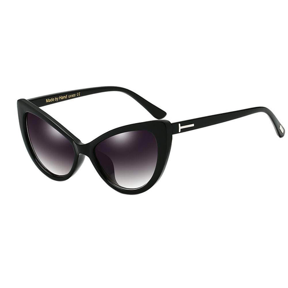Qimiao Mata Kucing Mode Desain Kacamata Frame Anti-uv Lensa PC Sun Lensa  Kaca Warna eb769d9c25