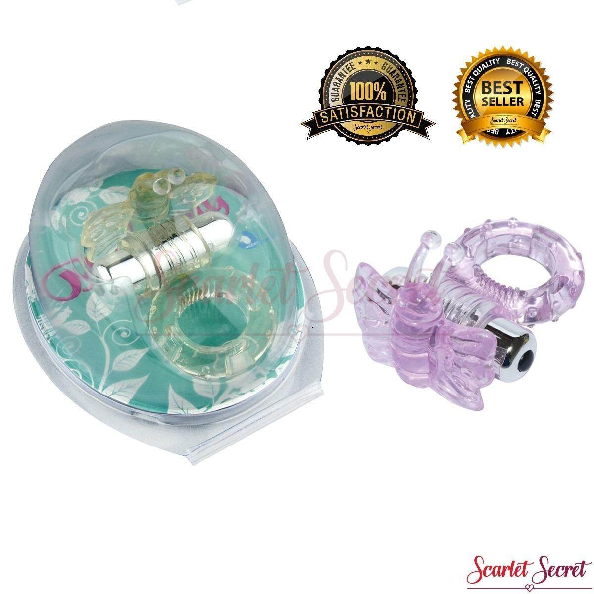 Male Vibration Butterfly Ring Long Lasting Time Delay Ejaculation Ring Sex Toy