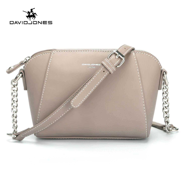 5e222862057e2 DAVIDJONES women handbag pu leather female crossbody bag small spring chain lady  shoulder bag girl summer