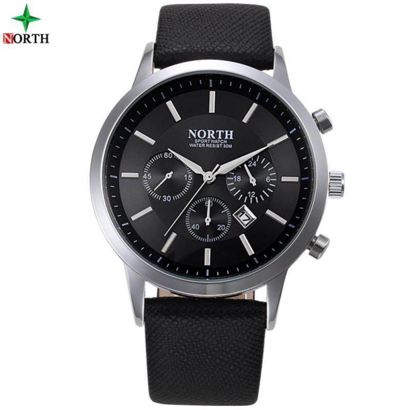 4 Colors 30M Waterproof Quartz Analog Watch Leather Strap Wrist Watch Round Wristwatch Malaysia