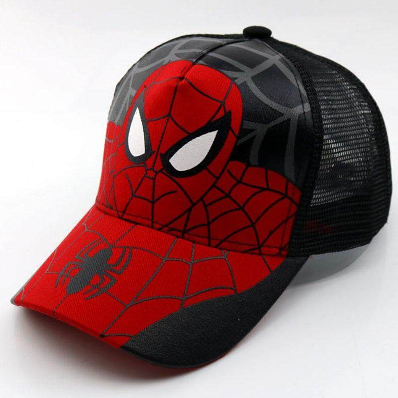 Spiderman Cartoon Children Baseball Cap Kids Boy Girl Hip Hop Hat Spiderman  Sunhat Cosplay Accessary 4a253ccb5