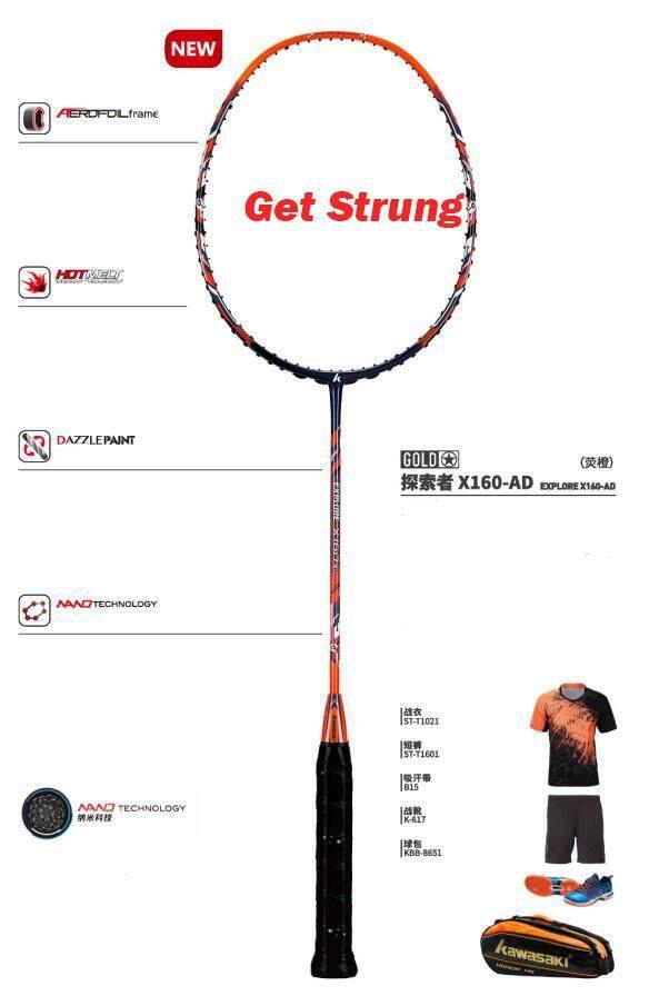 2018 Baru Asli Kawasaki Penuh Raket Karbon Jelajahi X160 Setengah Bintang Raket Badminton dengan Hadiah Gratis