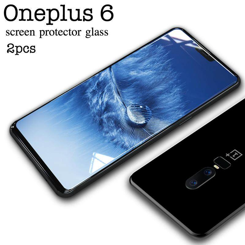 2pcs for Oneplus 6 Screen Protector Tempered Glass clear Full cover Protector film For Oneplus 6 glass - intl