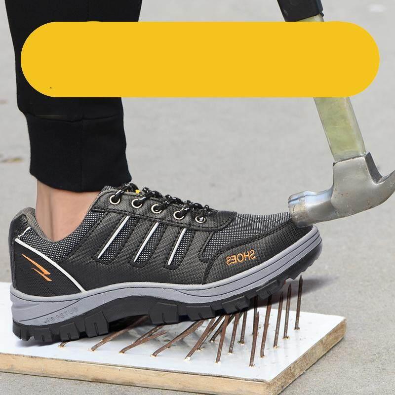 Detail Gambar Znpnxn Sepatu untuk Pria Sepatu Keselamatan Kolam Sepatu Kerja Aman Anti-Smashing Anti