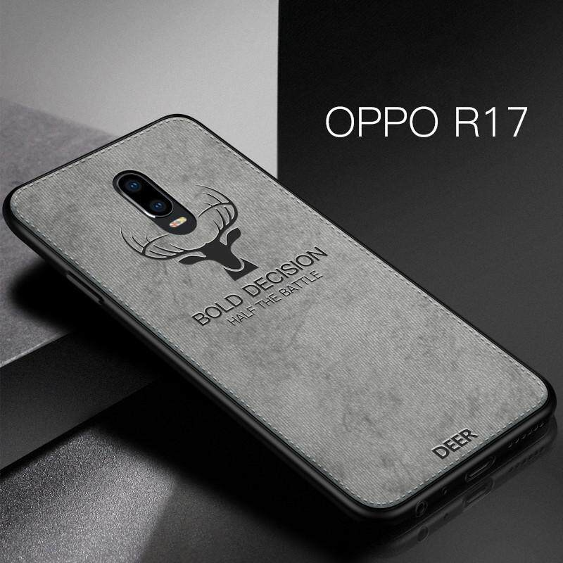 For OPPO R17 Cloth Case Soft Cover with Deer Design Cloth Hand Stitching Casing for OPPO R17 elk
