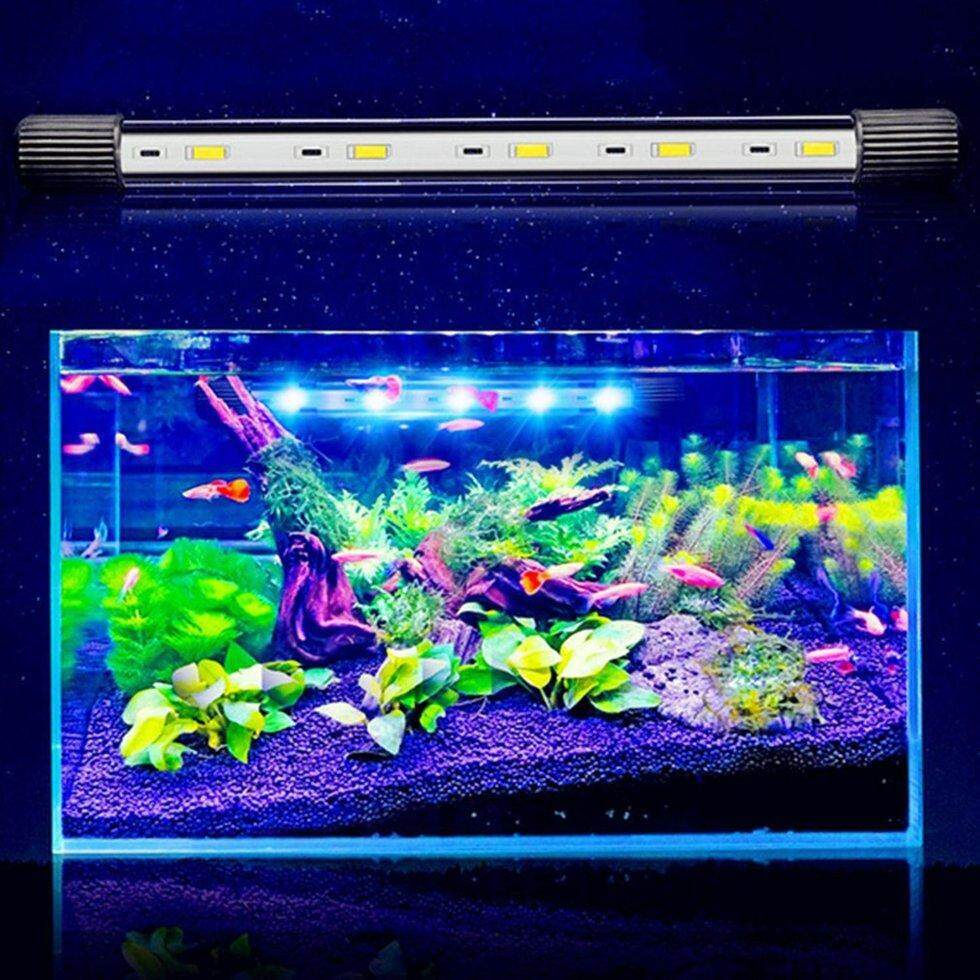 591823700b0 GOFT 17cm Aquarium Fish Tank LED Light Amphibious Use Submersible  Waterproof Lamp US Plug - intl