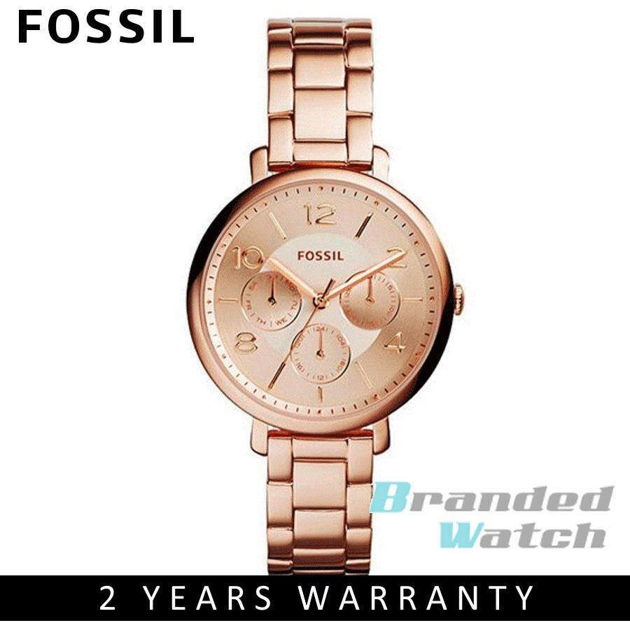 Fossil Watches Price In Malaysia Best Lazada Jam Tangan Automatic Brown Leather Me3027 Es3665 Womens Modern Jacqueline Multifunction Rose Toned Steel Watch