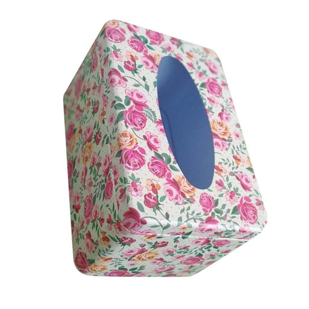 BolehDeals Napkin Paper Holder Removable Tissue Box Covers Tinplate Dinning Decor Tableware